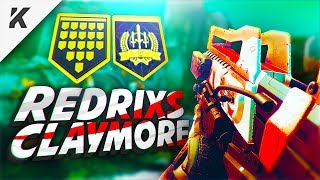 my BEST MATCH of CRUCIBLE with REDRIX CLAYMORE... (Destiny 2)