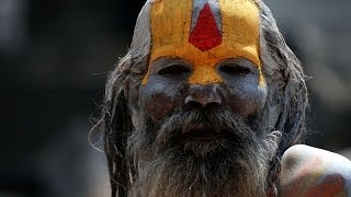 Sadhus at Pashupatinath temple during Maha Shivaratri