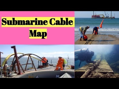 CCNA World Submarine Cable Map Internet Connectivity | वर्ल्ड सबमरीन केबल मैप |