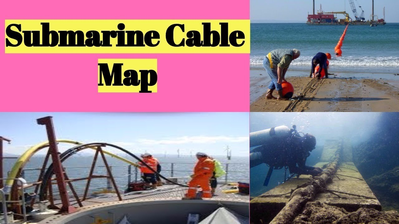 CCNA World Submarine Cable Map Internet Connectivity | वर्ल्ड सबमरीन केबल  मैप | Full UHD
