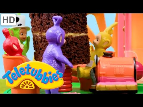 Teletubbies And Noo-Noo's Birthday Cake | Teletubbies Toy Play Video | Play games with Teletubbies