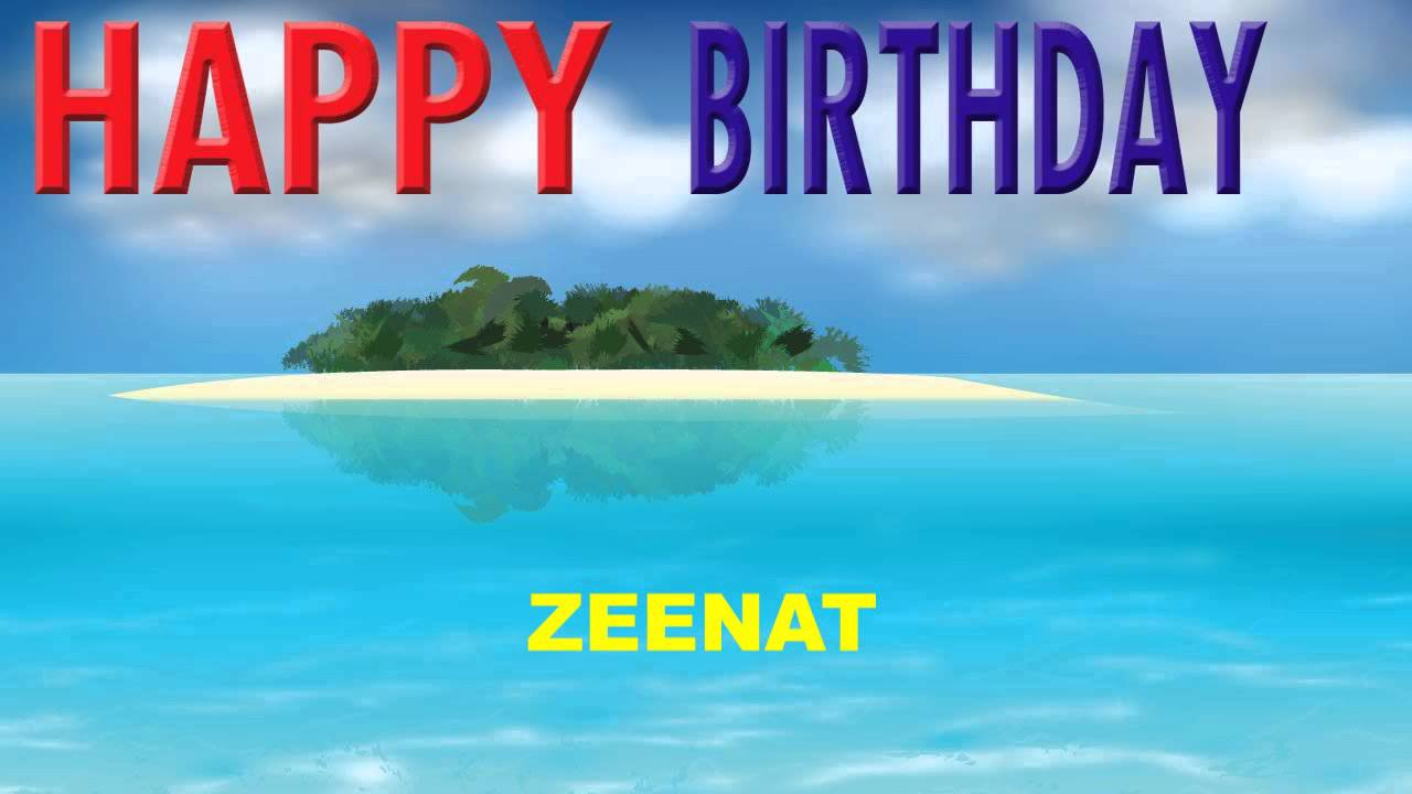 Zeenat Card Tarjeta Happy Birthday YouTube
