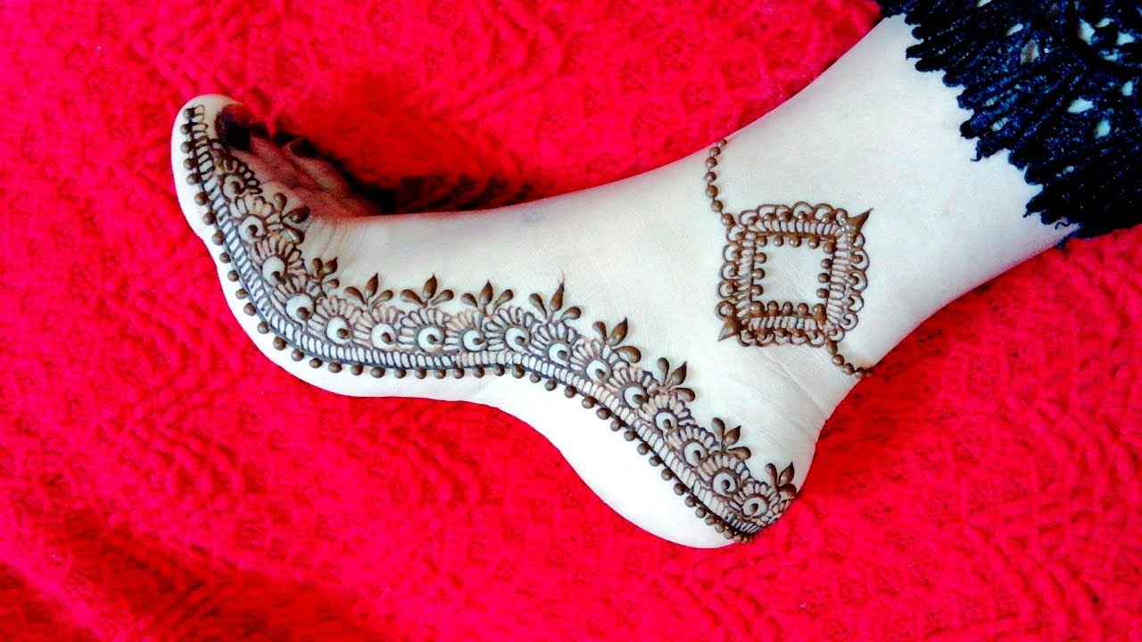 Beautiful Feet Mehndi Design 2018 | Leg Henna Simple and Easy for Eid |  Teej - Naush Artistica