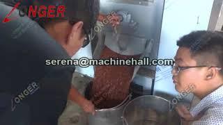 Small Scale Peanut Roasting Machine / Gas Groundnut Roaster Machine for Sale