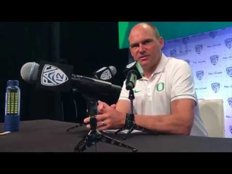 Mark Helfrich's Pac-12 media day press conference