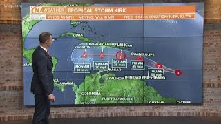 Tropical Storm Kirk redevelops in the Atlantic