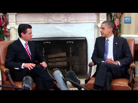 President Obama and President-elect Enrique Peña Nieto of Mexico