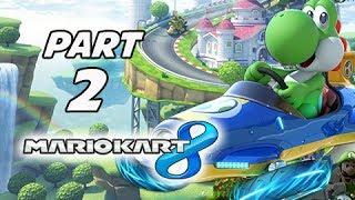 Mario Kart 8 Gameplay Walkthrough Part 2 - YOSHI Shell Cup Grand Prix 150cc (Wii U Gameplay)