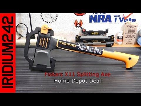 Fiskars X11 Splitting Ax Home Depot Deal! - YouTube