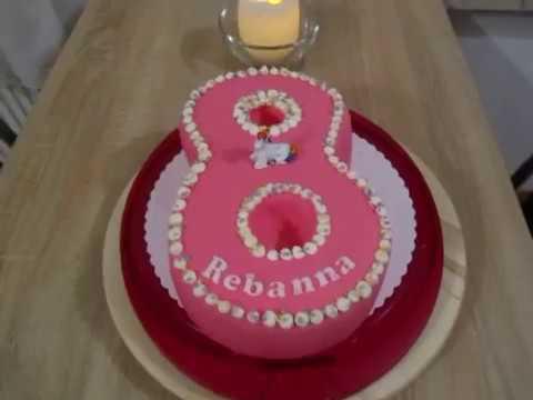 8 Geburtstag Torte In Acht Form Einhorn Torte Youtube
