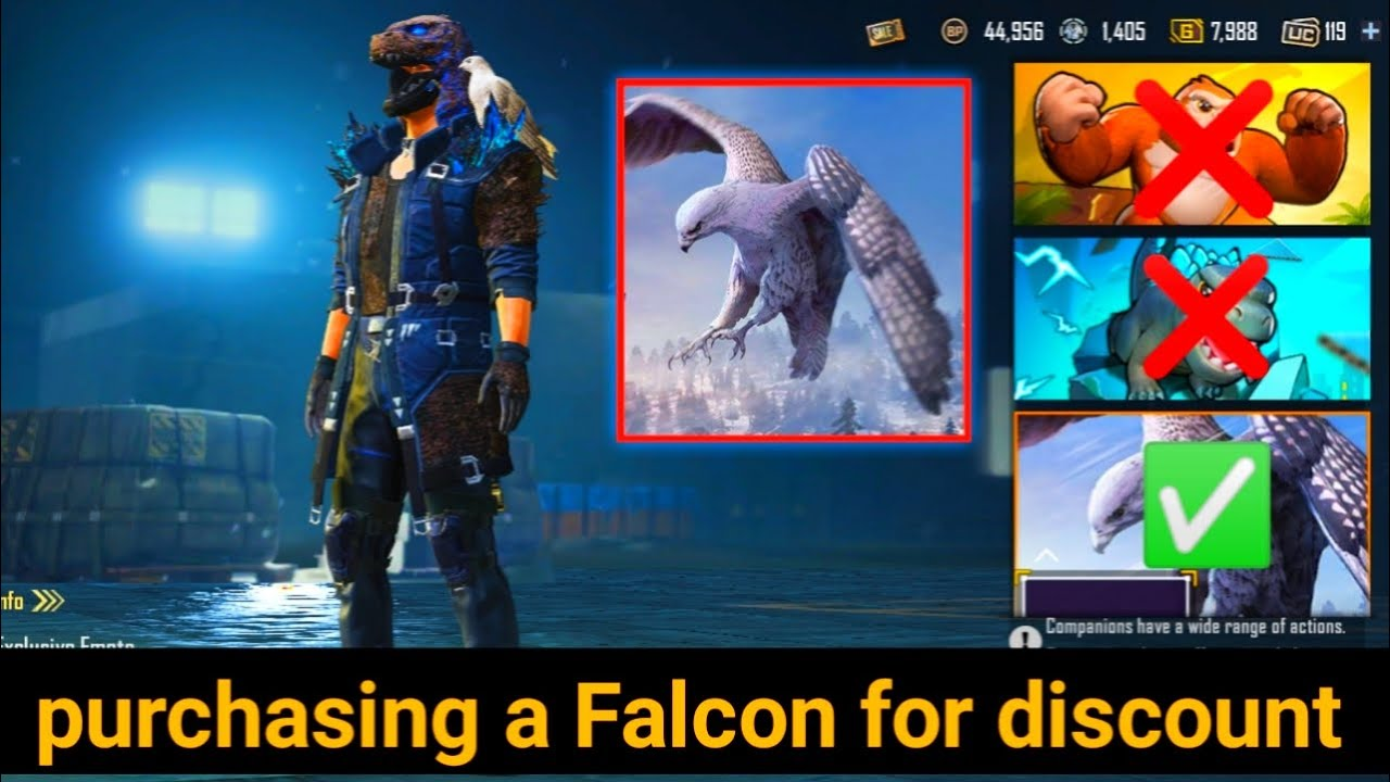 Download how to get falcon with discount in Pubg mobile 2021