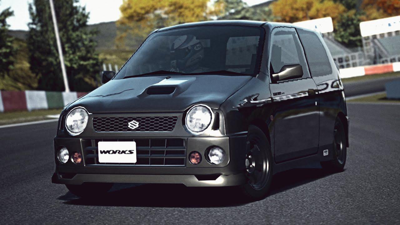 gt6 suzuki alto works suzuki sport limited 97 exhaust comparison [ 1280 x 720 Pixel ]
