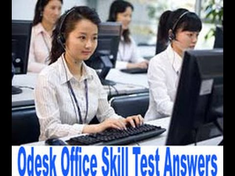 Odesk office skill test questions and answers