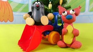 Мультфильм про Кротика и белочку - Лепим из пластилина - Игрушки для детей