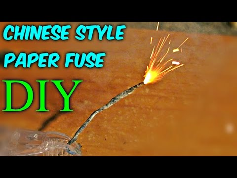 DIY Chinese Style Paper Fuse