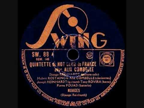 Django Reinhardt & Alix Combelle - Nuages -  1940 December 13 - Paris