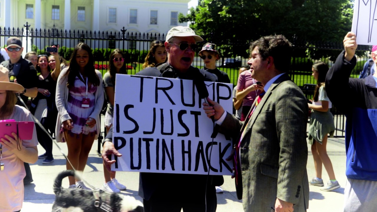 protest of trump at white house a day after he fired fbi director