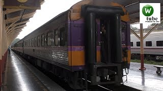 【昔の上野駅みたい?】タイ国鉄チェンマイ駅 客車が推進運転でホーム入線 Thailand Railway