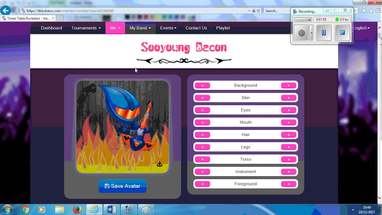 how to change your name on ttrockstars