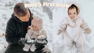 BABY'S FIRST SNOW DAY!