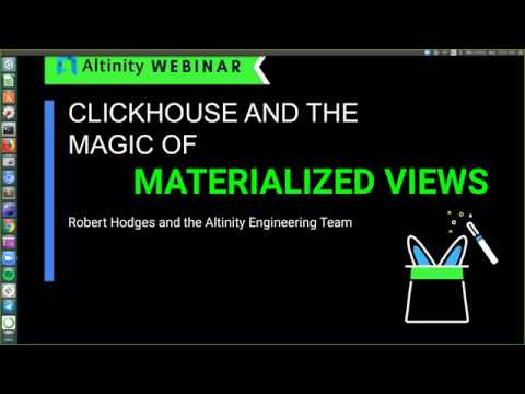 Clickhouse And The Magic Of Materialized Views Youtube