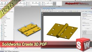 Solidworks Fast Create 3D Model In PDF Format