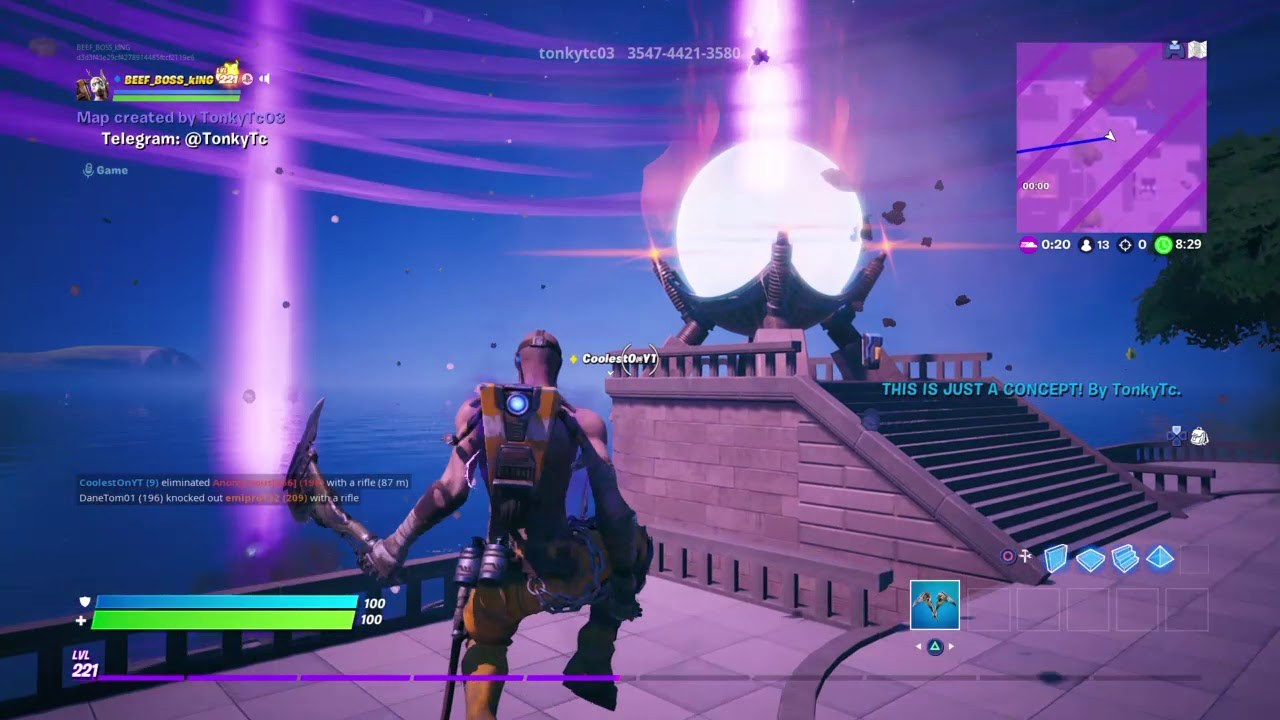 Fortnite The Doomsday Device On Creative Youtube
