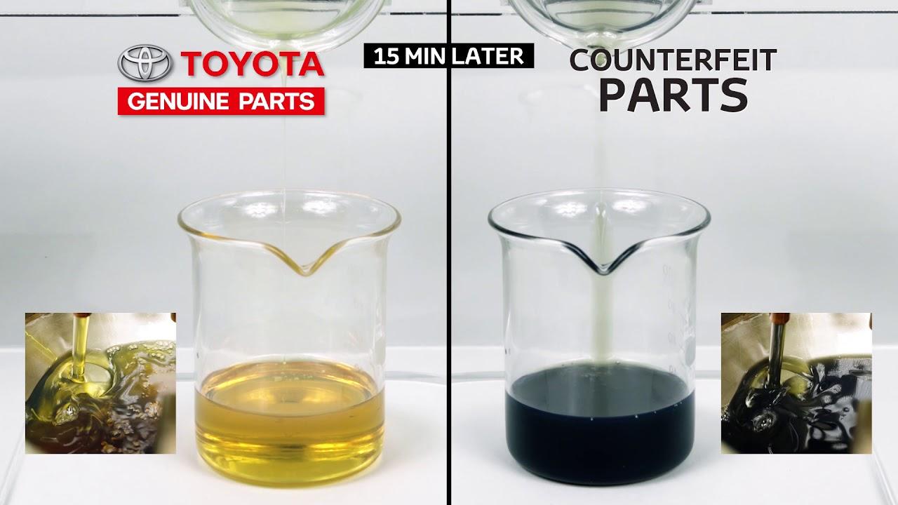 Toyota Genuine Parts >> Toyota Genuine Parts Oil Filter Comparison Youtube