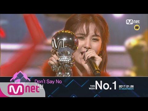 Top in 4th of January, 'SEOHYUN' with 'Don't say no', Encore Stage! (in Full) M COUNTDOWN 170126 EP.