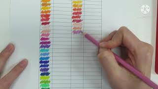 색연필 36색 비교 (프리즈마 색연필 VS 파버카스텔 …