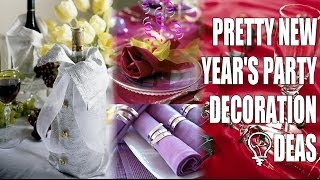 Pretty New Year's Party Decoration Ideas
