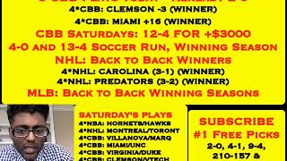 FREE PREMIUM CBB PICKS,  KINGS/HEAT UNDER WINNER, 5 CBB PLAYS, BACK/BACK NHL WINS [02-09-19]