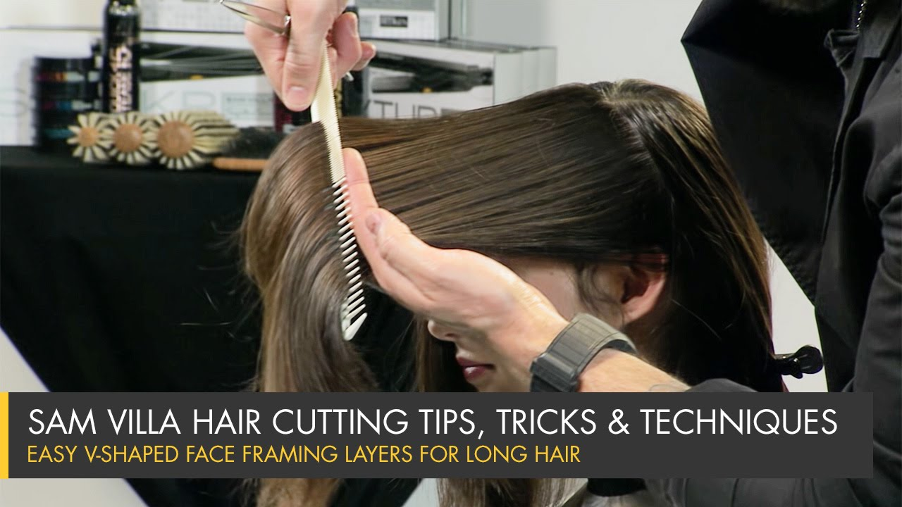 Image is part of v shaped hairstyle pictureslong layered haircuts - How To Cut Perfect Face Framing Layers For Longer Hair V Shaped Layers Youtube