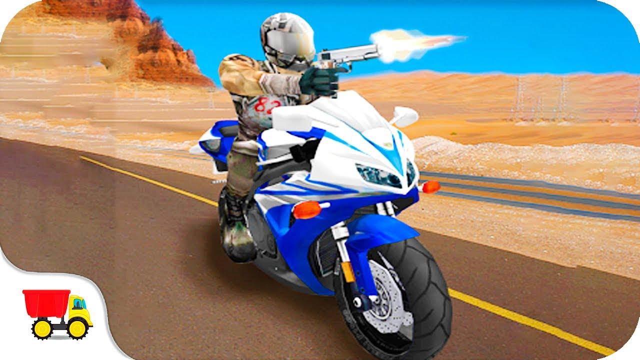 Bike Racing Games Highway Chase Stunt Rash Gameplay