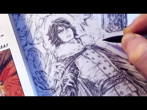 Drawing New Sasuke Uchiha MAGIC KNIGHT Redesign Black Clover | Anime Manga Sketch thumbnail