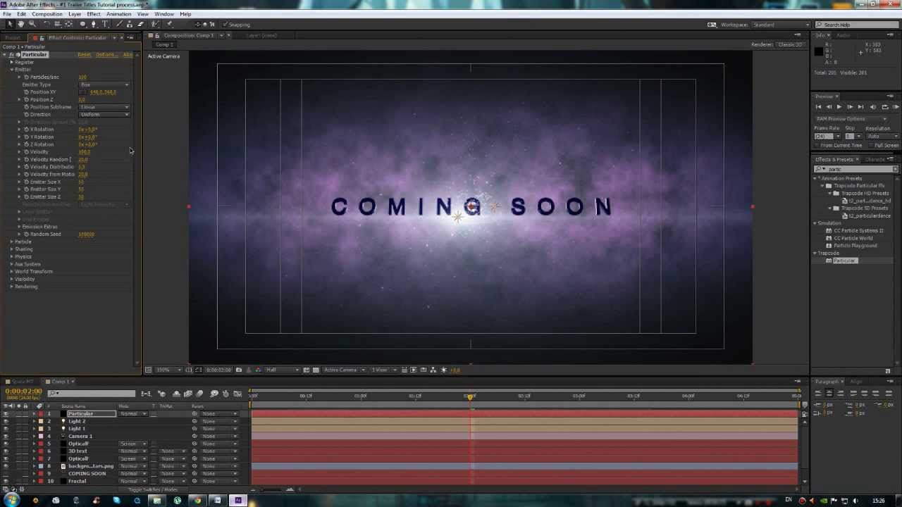 how to make tv show titles adobe after effects