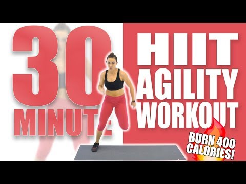 30 Minute HIIT Agility Workout 🔥Burn 400 Calories! 🔥Sydney Cummings