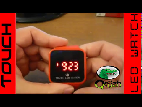 Led Touch Screen Watch Setting Instructions Youtube