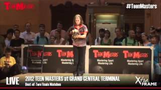 2012 Teen Masters Grand Championships:  Haley Rubin versus Jessica Davies