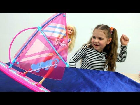 Игры #Барби и #Майлитлпони: приключения Барби и Штеффи на пляже! Видео для девочек