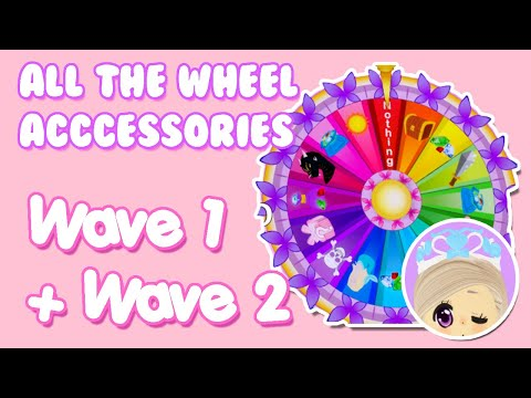 ALL Of The WHEEL ACCESSORIES (WAVE 1 + WAVE 2) In ROYALE HIGH (Roblox)