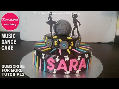 dance music chocolate cake:The Dancing birthday cake:Dance Party cake video