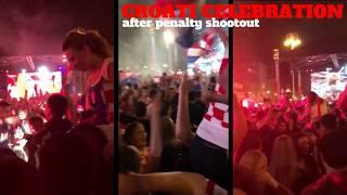 Croatia celebrating win   Croatia-Denmark World Cup