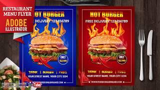 Create Burger Promotion Flyer  Photoshop Tutorials