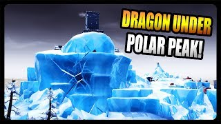 SECRET DRAGON HIDING UNDER POLAR PEAK! (Fortnite Season 9)