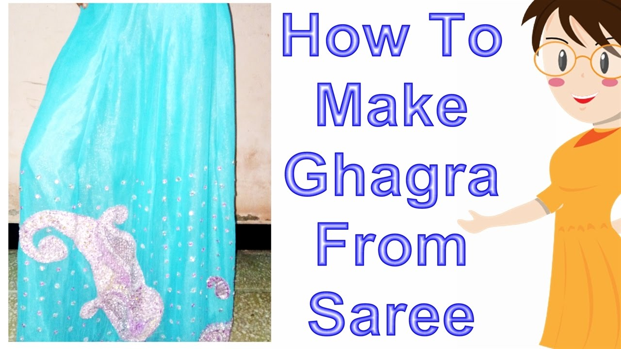 76bfb7516b How To Make Ghagra From Saree | DIY - Tailoring With Usha - YouTube