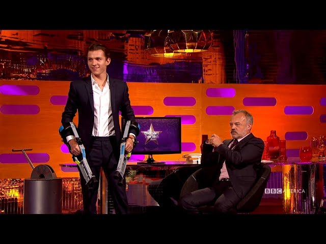 Tom Holland Practices 'Planet of the Apes' Moves - The Graham Norton Show