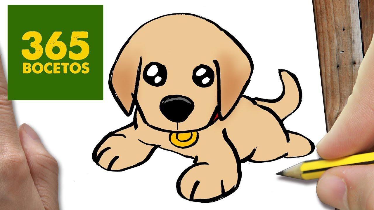 Como dibujar un perro labrador paso a paso os ense amos a - Dessiner un yorkshire ...