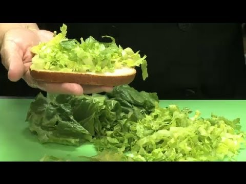 How To Cut Romaine Lettuce For Sandwiches Chicken Salads