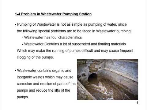 Wastewater Pumping Stations Design Lecture 1  Introduction